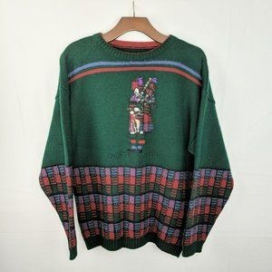 Vintage Bagpipe Scottish Clan Knit Sweater